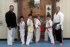 Congratulations on passing your test, kids! From Sensei Bowman & Sensei Sarvo